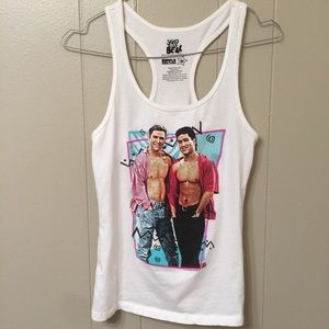 Saved By the Bell Women's M Graphic Racerback Tank